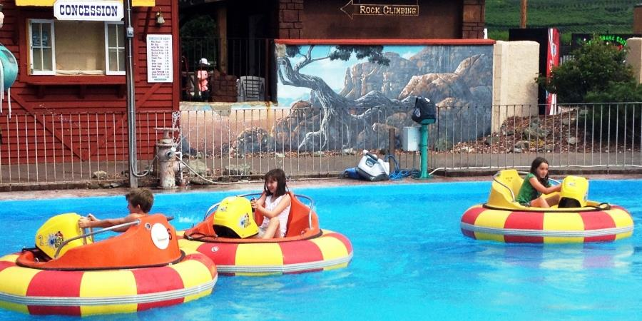 Bumper boats at Rattle Snake Canyon Amusement Park near the Lodge at Palmer Lake