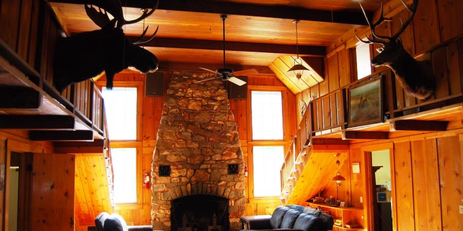 A place to make great family memories in the greatroom at the Lodge at Palmer Lake