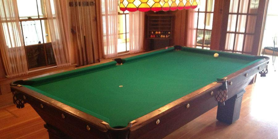Games, ping pong and billiards (pool table) at the Lodge at Palmer Lake